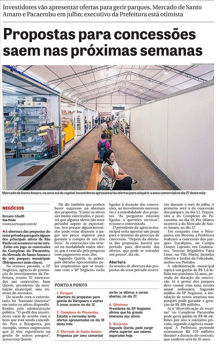 Concessões municipais: SP Negócios é destaque no Diário Comércio e Indústria