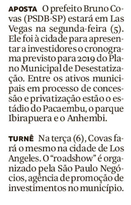 Missão de negócios da SP Negócios no Oeste dos EUA é destaque na Folha de S. Paulo