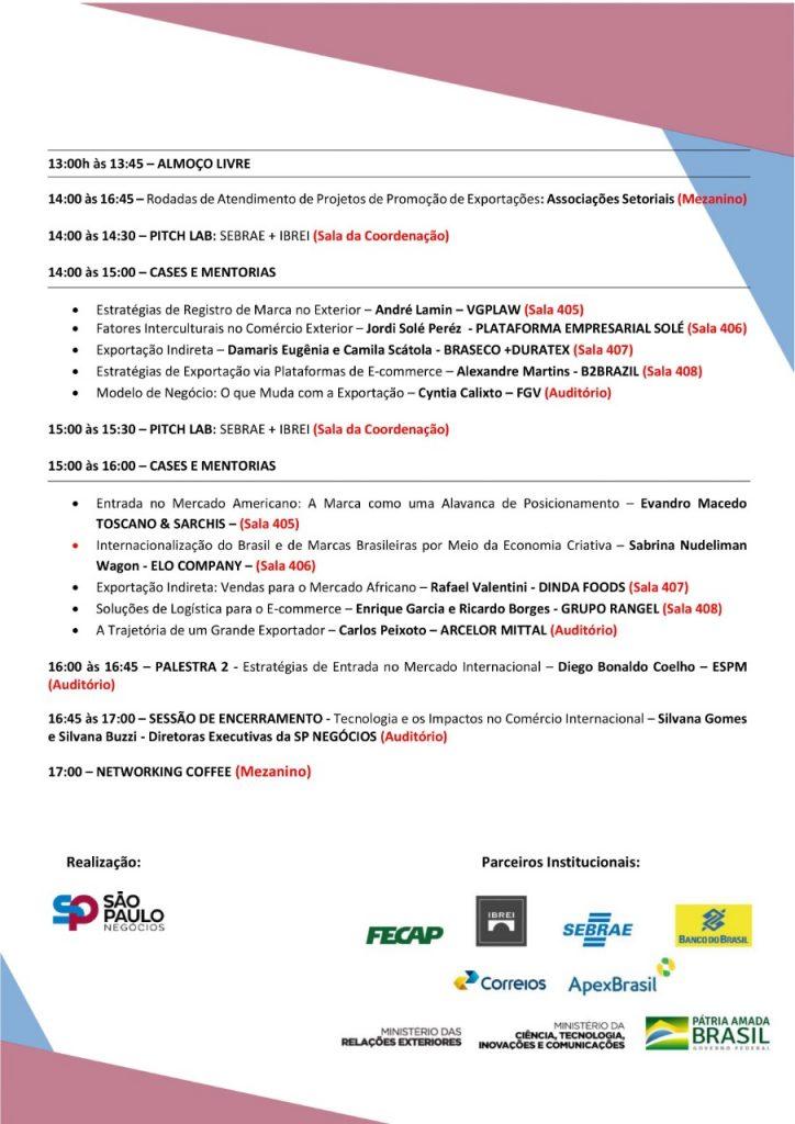 Confira a programação do 2º SP International Business Day